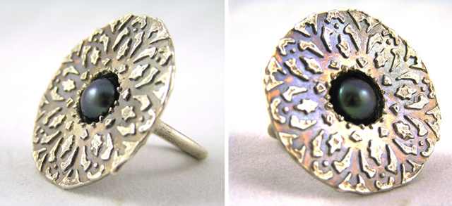 Kashgar ring, made by me
