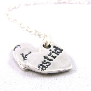 Fine Silver Name Tag Necklace