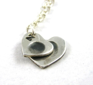 Fine Silver Fingerprint Necklace