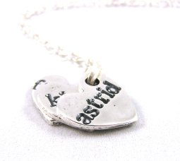 Name heart charms