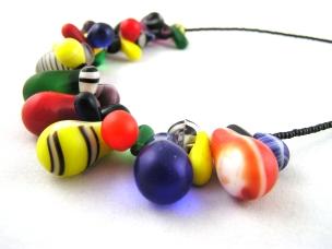 Multicolour Mali Trade Bead Necklace