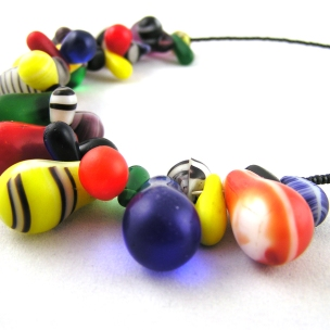 Multicolour Mali Trade Bead Necklace