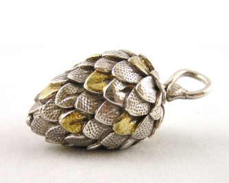 pine cone with 22 k gold