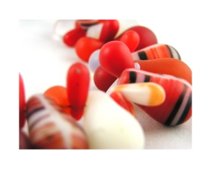 Red Mali Trade Bead Necklace